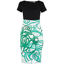 Buy Closet Contrast Drape Dress, Green/Black Online at johnlewis.com