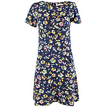 Buy Closet Short Sleeve Floral Dress, Blue/Multi Online at johnlewis.com