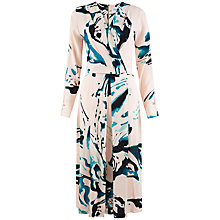 Buy Closet V-Neck Pleated Print Midi Dress, Multi Online at johnlewis.com