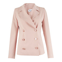 Buy Closet Double Breasted Jacket, Pale Pink Online at johnlewis.com