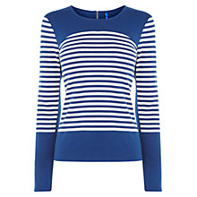 Buy Karen Millen Colour Block Stripe Top, Blue/Multi Online at johnlewis.com