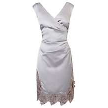 Buy Coast Delores Duchess Dress, Silver Online at johnlewis.com