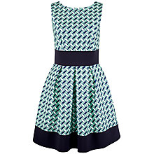 Buy Closet Contrast Geometric Hem Skater Dress, Multi Online at johnlewis.com