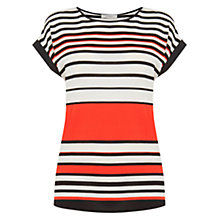 Buy Oasis Bretton Stripe T-Shirt, Multi/Orange Online at johnlewis.com