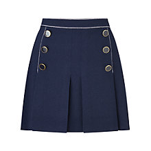 Buy Miss Selfridge Petite Button Skirt, Navy Online at johnlewis.com