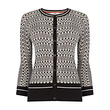 Buy Oasis Deco Print Crew Cardigan, Multi/Black Online at johnlewis.com