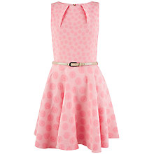 Buy Closet Daisy Belted Skater Dress, Pink Online at johnlewis.com