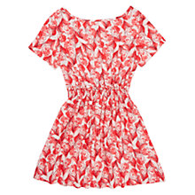 Buy Jigsaw Girls' Feather Print Dress, Pink Online at johnlewis.com