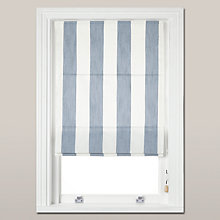 Buy John Lewis Penzance Stripe Roman Blind, Blue Online at johnlewis.com