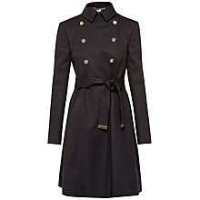 Buy Ted Baker Madey A-Line Mac Jacket, Black Online at johnlewis.com
