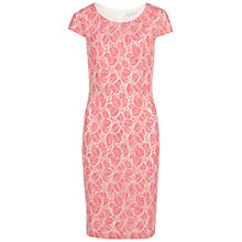 Buy Gina Bacconi Corded Linen Lace Dress, Red Online at johnlewis.com