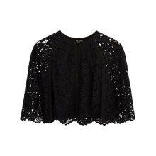 Buy Ted Baker Johdiye Lace Scalloped Hem Cape, Black Online at johnlewis.com