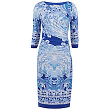 Buy Gina Bacconi Panelled Scroll Jersey Dress, Blue Online at johnlewis.com