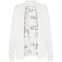 Buy Ted Baker Memie Secret Trellis Wrap Cardigan, Cream Online at johnlewis.com
