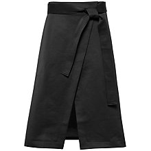 Buy Ted Baker Simonee Midi Wrap Skirt, Black Online at johnlewis.com