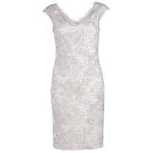 Buy Gina Bacconi Braid Embroidered Dress, Silver Online at johnlewis.com