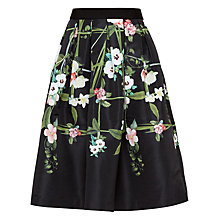 Buy Ted Baker Emmalin Secret Trellis Midi Skirt, Black Online at johnlewis.com