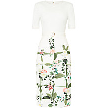 Buy Ted Baker Tahlor Secret Trellis Shift Dress, Cream Online at johnlewis.com
