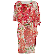 Buy Gina Bacconi Watercolour Chiffon Dress With Cape, Multi Online at johnlewis.com