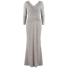 Buy Gina Bacconi Floral Lace Maxi Dress, Silver Grey Online at johnlewis.com