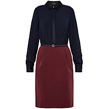 Buy Ted Baker Elicia Colour Block Shirt Dress, Purple Online at johnlewis.com
