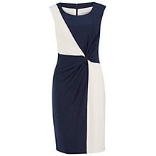 Buy Gina Bacconi Jersey Geometric Contrast Dress, Navy/Ivory Online at johnlewis.com