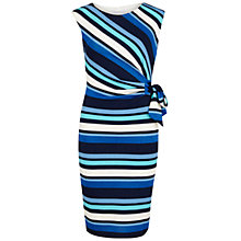 Buy Gina Bacconi Metallic Stripe Ruched Dress, Multi Online at johnlewis.com