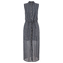 Buy Numph Hamako Sheer Shirt Dress, Black Iris Online at johnlewis.com