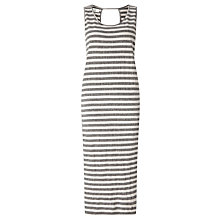 Buy Numph Akane Stripe Midi Dress, Drizzle Online at johnlewis.com
