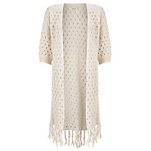 Buy Numph Satoru Tassle Cardigan, Birch Online at johnlewis.com