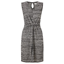 Buy Numph Shig Pleat Front Dress, Light Grey Melange Online at johnlewis.com