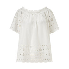 Buy Numph Shoya Blouse, Bright White Online at johnlewis.com