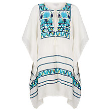 Buy Star Mela Deeta Embellished Kaftan, Ecru/Multi Online at johnlewis.com