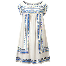 Buy Star Mela Allie Embroidered Dress, Ecru/Blue Online at johnlewis.com