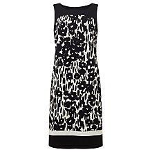 Buy Gerry Weber Sleeveless Print Jersey Dress, Black/White Online at johnlewis.com