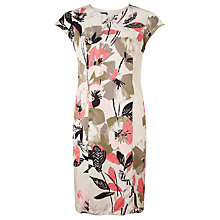 Buy Gerry Weber Floral Print Dress, Sisal/Coral Online at johnlewis.com