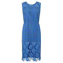 Buy Gerry Weber Lace Border Dress, Azure Online at johnlewis.com