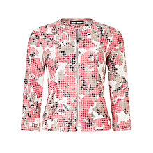 Buy Gerry Weber Floral Print Cropped Blazer, Multi Online at johnlewis.com