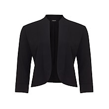 Buy Gerry Weber Cropped Jersey Jacket, Black Online at johnlewis.com