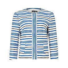 Buy Gerry Weber Stripe Blazer, Blue/White Online at johnlewis.com