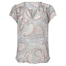 Buy Joie Ederra Printed Top, Haze Blue Online at johnlewis.com