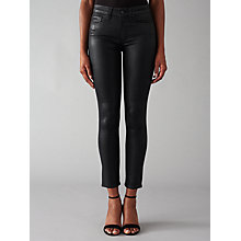 Buy Paige Hoxton High Rise Skinny Coated Jeans, Black Online at johnlewis.com