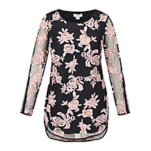 Buy Celuu Rosemary Floral Tunic Top, Navy/Pink Online at johnlewis.com