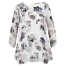 Buy Celuu Juliet Hanky Hem Blouse, Ivory/Multi Online at johnlewis.com