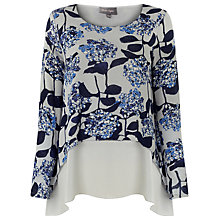 Buy Phase Eight Hydrangea Print Top, Blue Online at johnlewis.com
