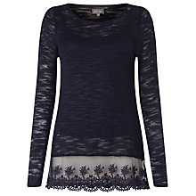 Buy Phase Eight Angela Lace Hem Top Online at johnlewis.com