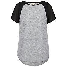 Buy Celuu Anna Chiffon Panel Top, Grey/Black Online at johnlewis.com