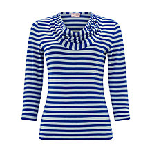 Buy Phase Eight Carrie Striped Top, Danish Blue/Pale Blue Online at johnlewis.com