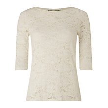 Buy Phase Eight Beth Lace Top, Ivory Online at johnlewis.com