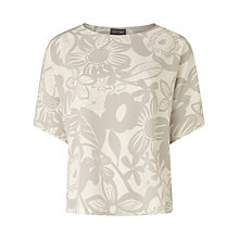 Buy Phase Eight Albany Blouse, Silver/Ivory Online at johnlewis.com